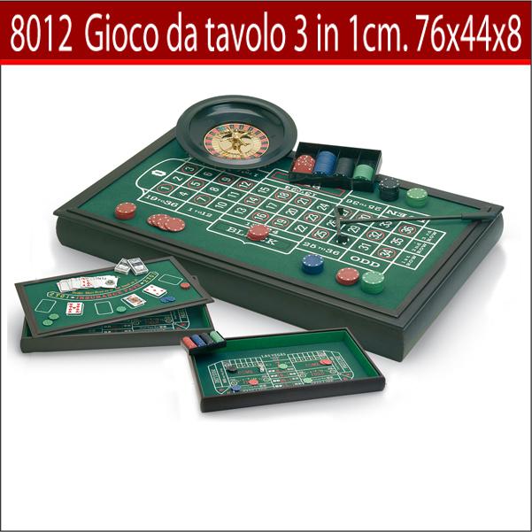 Tavolo da gioco 3 in 1 in legno art 8012 giochi da - Blokus gioco da tavolo ...
